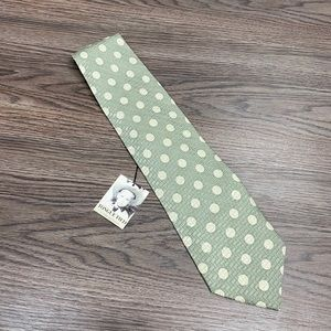 Tongue Tied NWT Sage w/ Ivory Polka Dot Tie